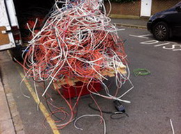 Industrial and domestic electrical cable for scrap